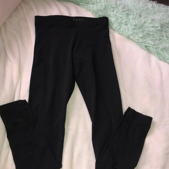 aeropostale black cotton leggings